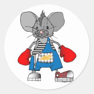 Personalizable de Mike del ratón de los ratones Pegatina Redonda