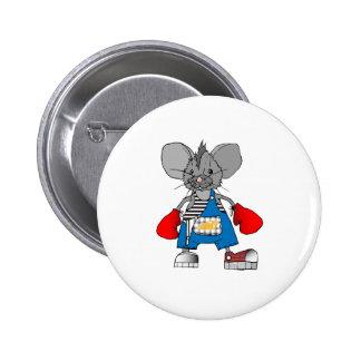 Personalizable de Mike del ratón de los ratones Pin Redondo 5 Cm