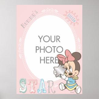 Personalizable de Minnie del bebé Póster