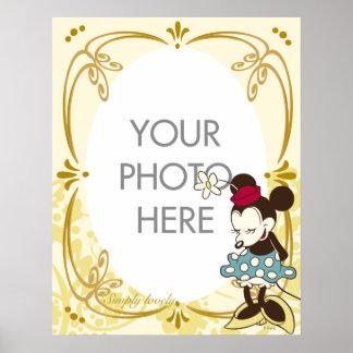 Personalizable de Minnie Mouse del vintage Póster