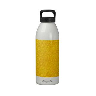 Personalizable de oro amarillo reluciente botella de beber
