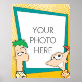 Personalizable de Phineas y de Ferb Póster