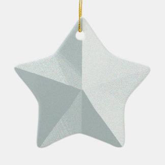 Personalizable de plata del ornamento del navidad adorno navideño de cerámica en forma de estrella