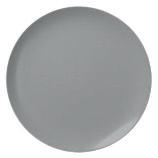 Personalizable de plata liso moderno platos para fiestas