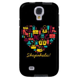 Personalizable de Shopaholic (corazón) Funda Galaxy S4