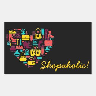 Personalizable de Shopaholic corazón Etiquetas