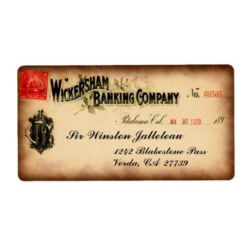 Personalizable de Wickersham Etiqueta De Envío