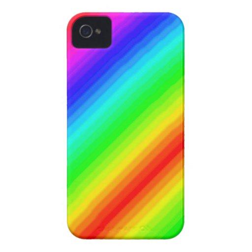 Personalizable del arco iris iPhone 4 cobertura