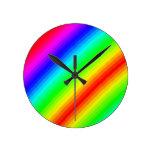 Personalizable del arco iris relojes de pared