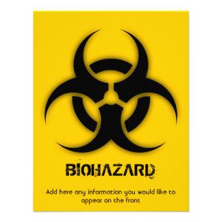 Personalizable del Biohazard de la plantilla Comunicado Personalizado