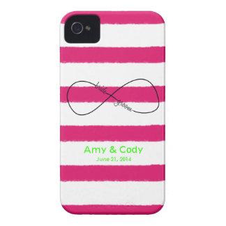 Personalizable del boda de la novia y del novio iPhone 4 Case-Mate funda