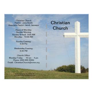 Personalizable del boletín de la iglesia tarjetones