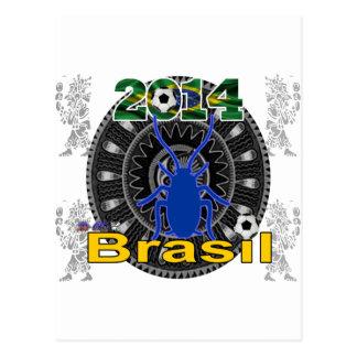 PERSONALIZABLE DEL BRASIL WORLDCUP CUCARACHA POSTALES