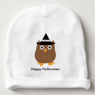 Personalizable del búho de Halloween Gorrito Para Bebe