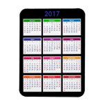 Personalizable del calendario de 2017 colores imán foto rectangular