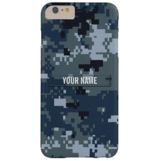 Personalizable del camuflaje de la marina de funda de iPhone 6 plus barely there