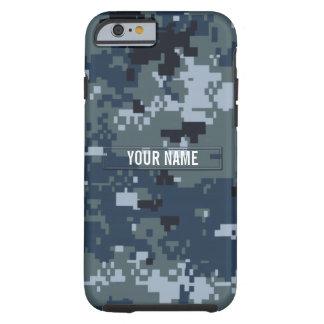Personalizable del camuflaje de la marina de funda para iPhone 6 tough
