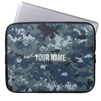 Personalizable del camuflaje de la marina de guerr funda portátil