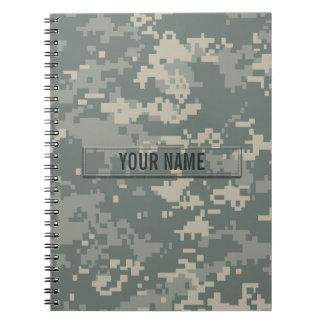 Personalizable del camuflaje del ACU del ejército Libreta