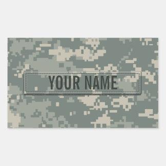 Personalizable del camuflaje del ACU del ejército Pegatina Rectangular