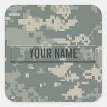 Personalizable del camuflaje del ACU del ejército Calcomanía Cuadradas Personalizadas