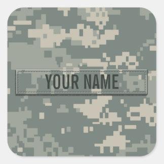 Personalizable del camuflaje del ACU del ejército Pegatina Cuadrada