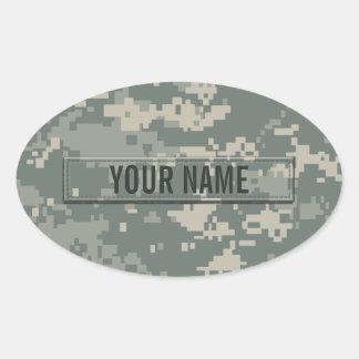 Personalizable del camuflaje del ACU del ejército Pegatina Ovalada