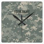 Personalizable del camuflaje del ACU del ejército Relojes De Pared