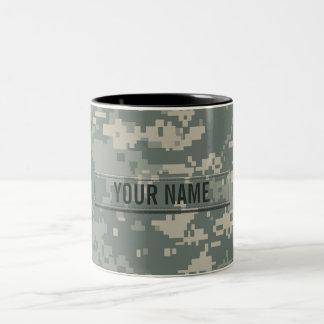 Personalizable del camuflaje del ACU del ejército Taza De Café De Dos Colores