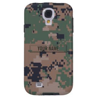 Personalizable del camuflaje del arbolado de Digit Funda Para Galaxy S4