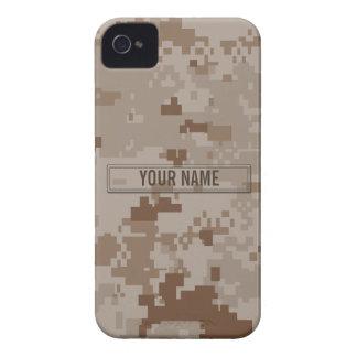 Personalizable del camuflaje del desierto de Digit Case-Mate iPhone 4 Funda