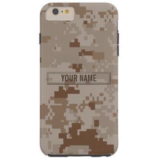 Personalizable del camuflaje del desierto de funda de iPhone 6 plus tough