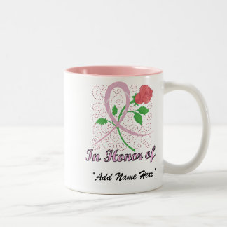 Personalizable del cáncer de pecho en honor de la taza de dos tonos