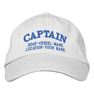Personalizable del CAPITÁN su barco su nombre Gorros Bordados