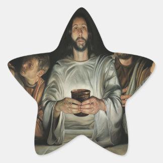 PERSONALIZABLE DEL CATÓLICO 03 DE JESÚS CRIST DE PEGATINA EN FORMA DE ESTRELLA