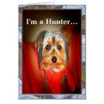 Personalizable del cazador de Yorkie Tarjetas
