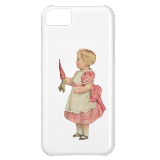 Personalizable del chica de la zanahoria funda para iPhone 5C
