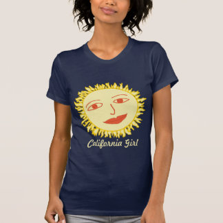 Personalizable del chica de Sr. Sun California Camisetas