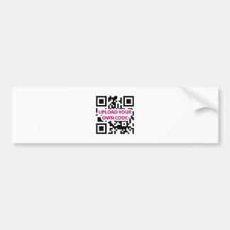 Personalizable del código de QR Pegatina De Parachoque