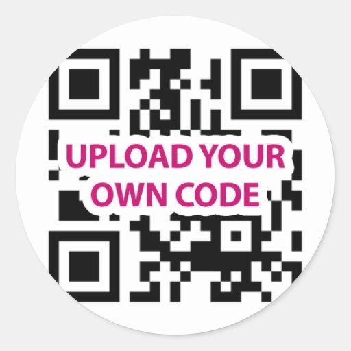 Personalizable del código de QR Pegatina Redonda