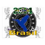 PERSONALIZABLE DEL COLIBRÍ DEL BRASIL WORLDCUP TARJETA POSTAL