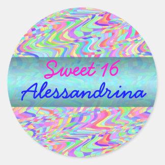Personalizable del confeti del caramelo del dulce etiqueta redonda