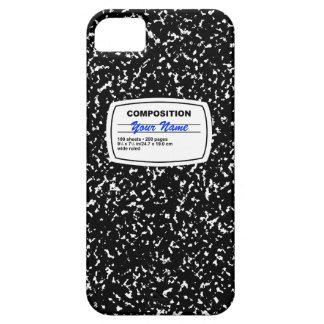 Personalizable del cuaderno de la composición iPhone 5 Case-Mate protectores