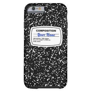 Personalizable del cuaderno de la composición funda de iPhone 6 tough