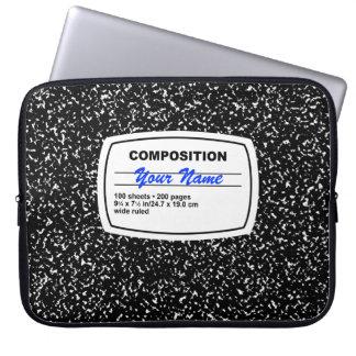 Personalizable del cuaderno de la composición fundas computadoras