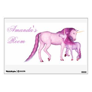 Personalizable del ~ de los unicornios vinilo