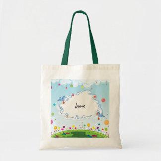 Personalizable del día de primavera bolsa