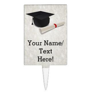 Personalizable del diploma del casquillo de la decoraciones de tartas