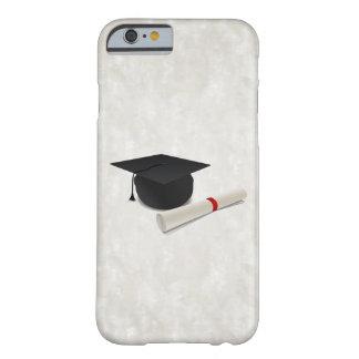 Personalizable del diploma del casquillo de la funda de iPhone 6 barely there