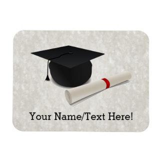 Personalizable del diploma del casquillo de la imanes de vinilo